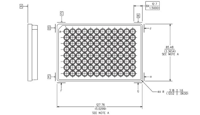 96 Well Plate Footprint Dimensions ANSISLAS 1 2004 R2012
